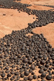 Moqui marbles in southern Utah