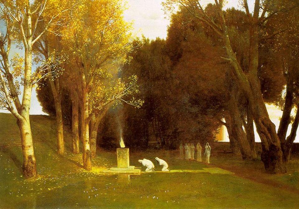 Arnold Böcklin – Il Bosco Sacro – 1882