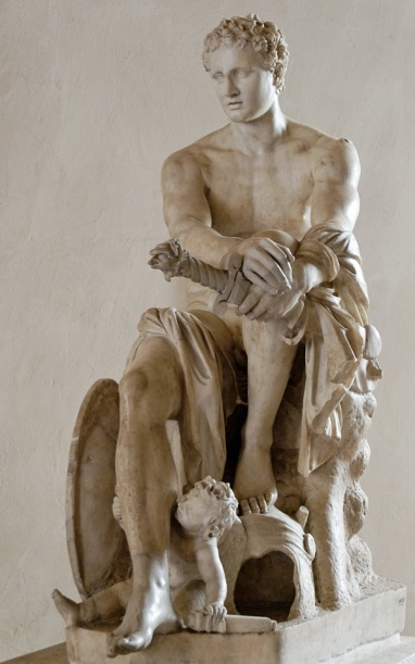 Ares, dio Greco della Guerra. Poi rinominato Marte dagli Antichi Romani.