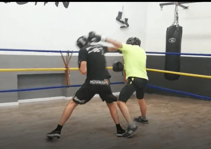 Francesco Dal Pino addestramento pugilato